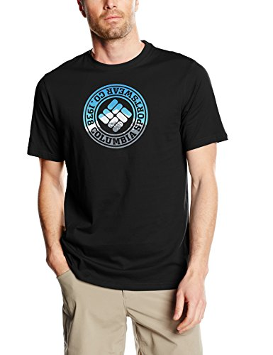 Columbia-CSC-Tried-and-True-Short-Sleeve-Tee-Camiseta-para-hombre-color-negro-talla-M-0