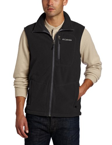 Columbia-Fast-Trek-Fleece-Vest-Chaleco-para-hombre-color-negro-talla-XL-0