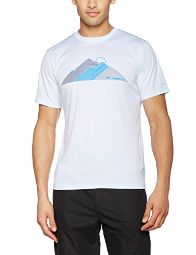 Columbia-cero-Rules-Camiseta-Manga-Corta-grfica-Hombre-Hombre-color-WhiteTri-Peak-tamao-medium-0
